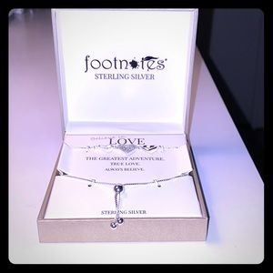 """Footnotes sterling silver """"believe in love"""""""